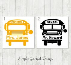 School Bus Decal Personalized Bus Driver Decal Bus Driver Appreciation Gift School Bus Yeti Decal Bus Drive Thank You School Decal by SimplyGracefulDesign on Etsy