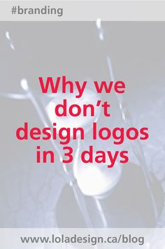 If you've ever felt your logo could be designed in a horrible rush-here's why it can't. Brand Boutique, Branding Design, Logo Design, Professional Image, Create Yourself, Felt, Marketing, Logos, Day
