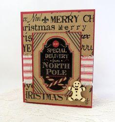 Christmas Card  Rustic Christmas Card  by PrettyByrdDesigns