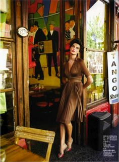 """""""The Leading Lady"""": Daria Werbowy by Mario Testino for Vogue China"""