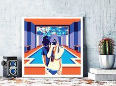 ** The Educators ** Modern wall art, minimalist poster, digital illustration, fine art print.  An original art work by MunaMias designers.  Print on true