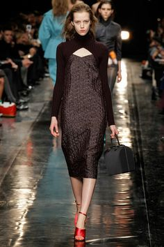 Turtleneck cut away shrug from the Carven Fall 2013 Ready-to-Wear