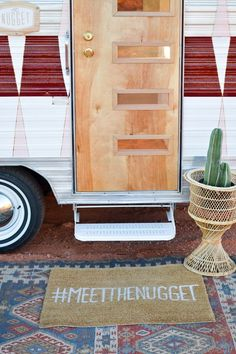 Oh my gosh #meetthenugget!! (So many adorable elements in this little guy!) | DIY Vintage Camper Makeover | Vintage Revivals