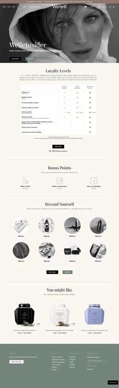 With bold black and white contrasts and a mix of photography and custom icons, Welle Co's page is dynamic and alluring. Custom Icons, Boost Metabolism, How To Increase Energy, Workout Gear, Landing, Vip, Smile, Health, Fitness