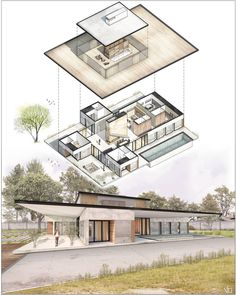 Architecture Concept Diagram, Amazing Architecture, Modern Architecture, Architecture Sketches, House Party Outfit, House Plans Mansion, Modern Entrance, House Of Beauty, Interior Rendering