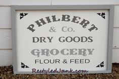 Vintage-Style Grocery Sign