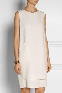 Oscar de la Renta|Wool-crepe shift dress|NET-A-PORTER.COM