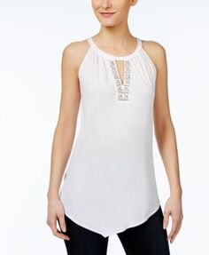 INC International Concepts Embellished Halter Top, Created for Macy's $34.99 Rhinestone embellishments add dazzle to the keyhole cutout on this chic halter top from INC International Concepts.