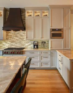 KITCHEN WITH HUGE ISLAND - Transitional - Kitchen - chicago - by KIM MCNALLY