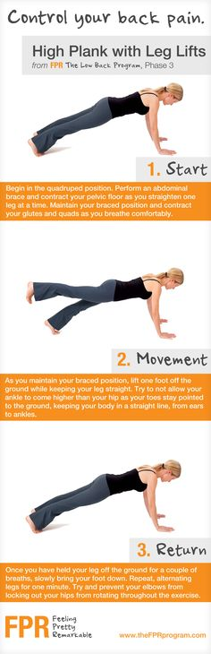 High Plank with Leg Lifts excellent for core strength
