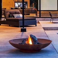 Adezz Corten Steel Fire Bowl