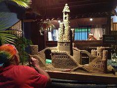 Sandcastle artist at the San Jose del Cabo Art District.