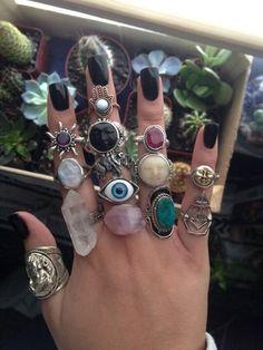 Hippie Jewelry, Cute Jewelry, Jewelry Rings, Jewelry Accessories, Fashion Accessories, Jewlery, Dainty Jewelry, Hippie Rings, Cheap Jewelry