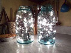 luces con frascos