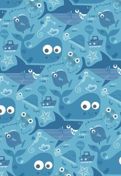 Repeat Pattern Characters by Stephanie Hinton, via Behance iphone wallpaper