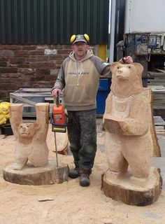 Chainsaw Carvings, Wood Carvings, Simple Wood Carving, Sculpture, Wood Sculpture, Wood Carving, Sculptures, Sculpting, Woodcarving