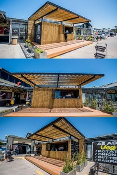 Topshell converted a grade B shipping container into a contemporary coffee shop. Client: Seattle Coffee Shop Converted by: Topshell Containers #shippingcontainers #containerconversions #convertedcontainers #coffeeshop #coffeeshopcontainer #containerized #cargotecture Seattle Coffee Shops, Shipping Container Conversions, Medical Center, Conversation, Contemporary, Mansions, Luxury, House Styles, Manor Houses