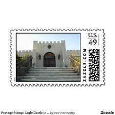 Postage Stamp:Former  Eagle Castle in Paso Robles. Now Tooth and Nail Winery.