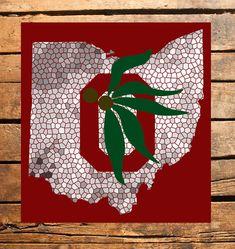 Ohio State Buckeyes Mosaic Digital File by TaracottaSunrise, $5.00