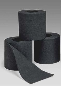 black toilet paper- I see all kinds of problems with this stuff!
