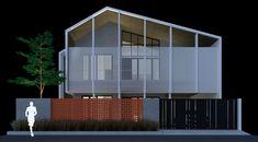 BATUNUNGGAL HOUSE - Rekabentuk ID Interior Architecture, Interior Design, Drawing Architecture, Perspective Drawing, Facade House, Bungalow, Skyscraper, Multi Story Building, Studio