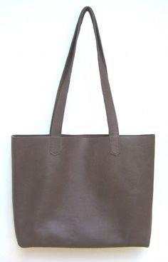 DIY Simple Leather Tote Bag Tutorial from How Did You Make This?