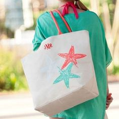 Starfish Canvas Tote