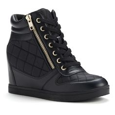 Rock & Republic Wedge Sneakers - Women Size to 9 Wedge Ankle Boots, High Heel Boots, Wedge Shoes, Shoe Boots, Womens Shoes Wedges, Womens High Heels, Cute Shoes, Me Too Shoes, Pretty Shoes