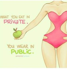 Very true! I'm one of those sneaky terrible eaters. I don't want to be judged for my poor eating  I should just get rid of them!