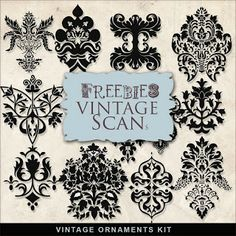 Far Far Hill: Freebies Vintage Ornaments Kit Misschien wel leuk motief voor op een raam te zandstralen