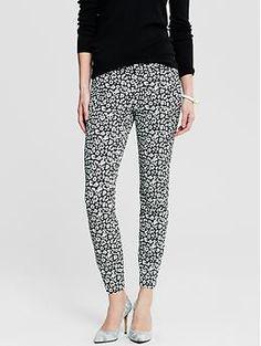 Sloan-Fit Leopard Print Slim Ankle Pant | Banana Republic
