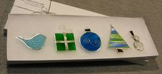 gift box ornaments stained glass christmas