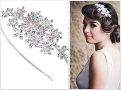 #tiara #wedding hair accessories #wedding headpiece  http://www.vivienj.co.uk/shop/sienna-side-tiara/