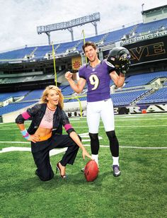 Fantasy Fashion: Photo shoot at the Baltimore Ravens home field