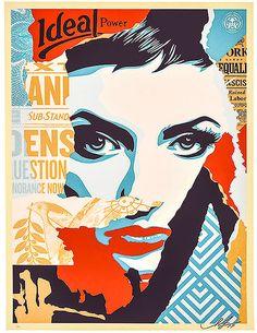 From MSP Modern, Shepard Fairey, Obey Ideal Power Silkscreen print, 24 × 18 in Shepard Fairey Art, Shepard Fairy, Lorenzo Lamas, Poster Prints, Art Prints, Screen Print Poster, Arte Popular, Gcse Art, Design Graphique