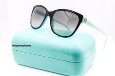 TIFFANY & Co. TF 4083 8163/3C Black& Blue Gray Gradient Sunglasses NWT AUTH  #TiffanyCo #Squared