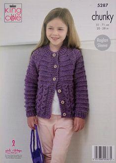 Girls Knitting Pattern K5287 Childrens Long Sleeve Round Neck   Etsy