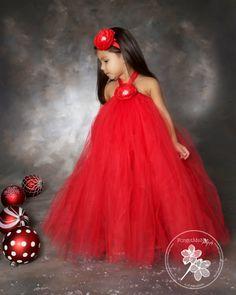 Christmas Tutu Dress...Red Tutu...Tutu Dress by TrendyBambini, $50.00