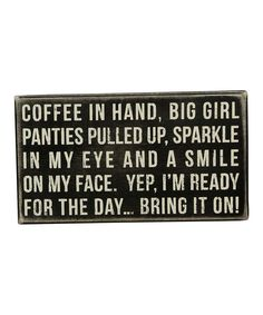 'Coffee in Hand' Box Sign | Daily deals for moms, babies and kids
