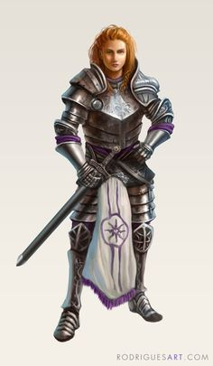 Character Concept - Female Knight by rodriguesart
