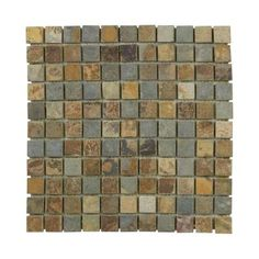(Floor) Jeffrey Court Slate 12 in. x 12 in. x 8 mm Mosaic Floor/Wall Tile-99027 - The Home Depot