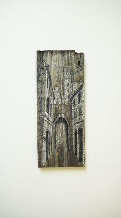 Art On Wood.Art on Reclaimed Wood. Rustic Art. by OHankArt on Etsy