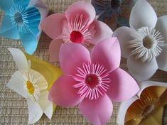 折紙の花の折り方:うおこのてづくり生活inどいちゅ(4~5枚、要糊付け)