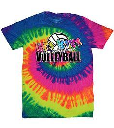 Rainbow Tie Dye Life's Better Volleyball T-Shirt!
