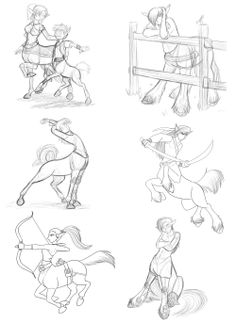 Centaur Sketches 2 by Kitsune64 These are cute