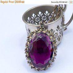 Vintage Amethyst Pendant  Purple Glass by DianaKirkpatrickArt