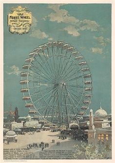 Poster Plus Products - Graham, The Ferris Wheel - 1893 World's Fair Columbian Exposition - Numbered Limited Edition