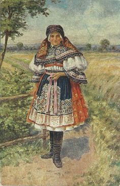 Folk Costume, Costumes, Drawing Wallpaper, Culture Club, Black Forest, Czech Republic, Traditional Outfits, Painting & Drawing, Fairy Tales