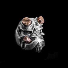 925 Sterling Silver Double Golden Butterfly Open Rings For Women Original Handmade Lady Prevent Allergy Sterling–silver-jewelry – Fine Sea Glass Jewelry Skull Jewelry, Rhinestone Jewelry, Black Jewelry, Gothic Jewelry, Silver Earrings, Bracelets En Argent Sterling, Sterling Silver Jewelry, Mens Skull Rings, Unusual Rings