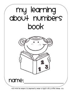 learning about numbers activity book...thinking this would be a great activity to use for those firsties who need an intervention with number recognition!